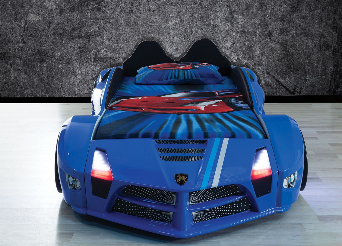 Autobett in Blau Luxury mit LED Beleuchtung