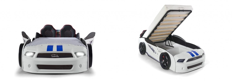 Autobettzimmer Must Rider komplett 5-teilig in Weiß