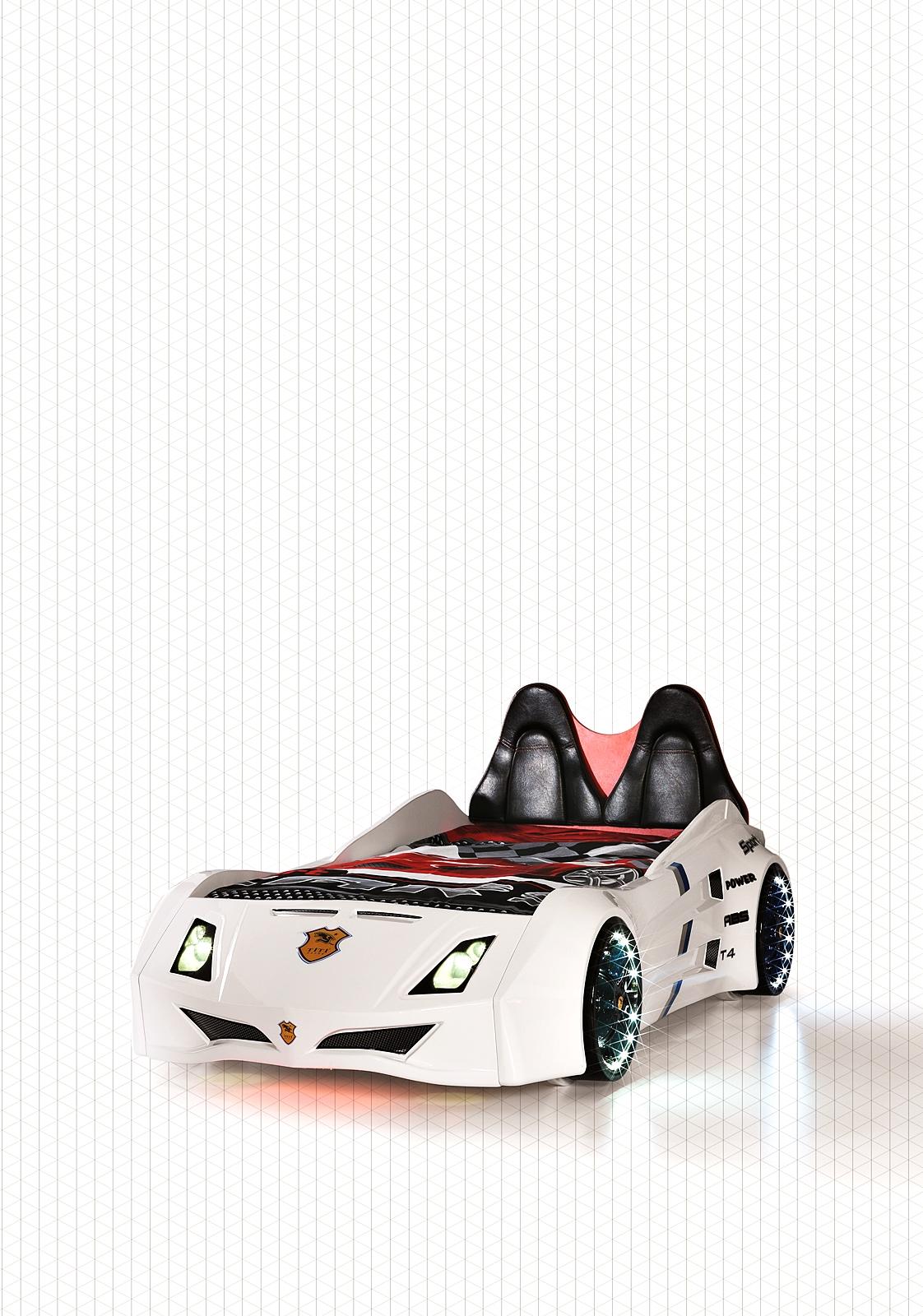 Titi Zimmer mit Autobett Cat Garage Car Weiß Schwarz