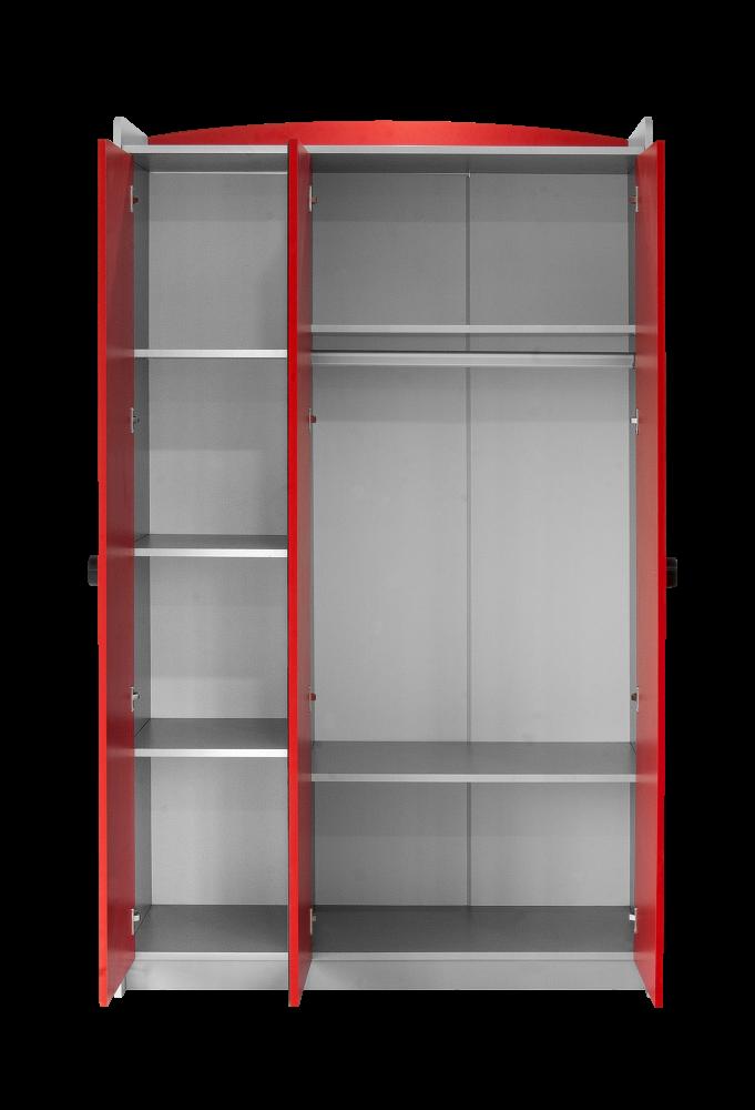 Kinderzimmer Autobett GT18 Turbo 4-teilig in Rot