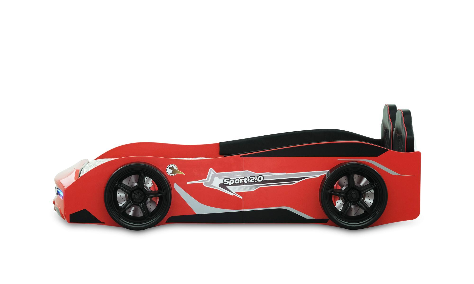 Autobett Kinderbett Sport 2.0 Rot mit Spoiler