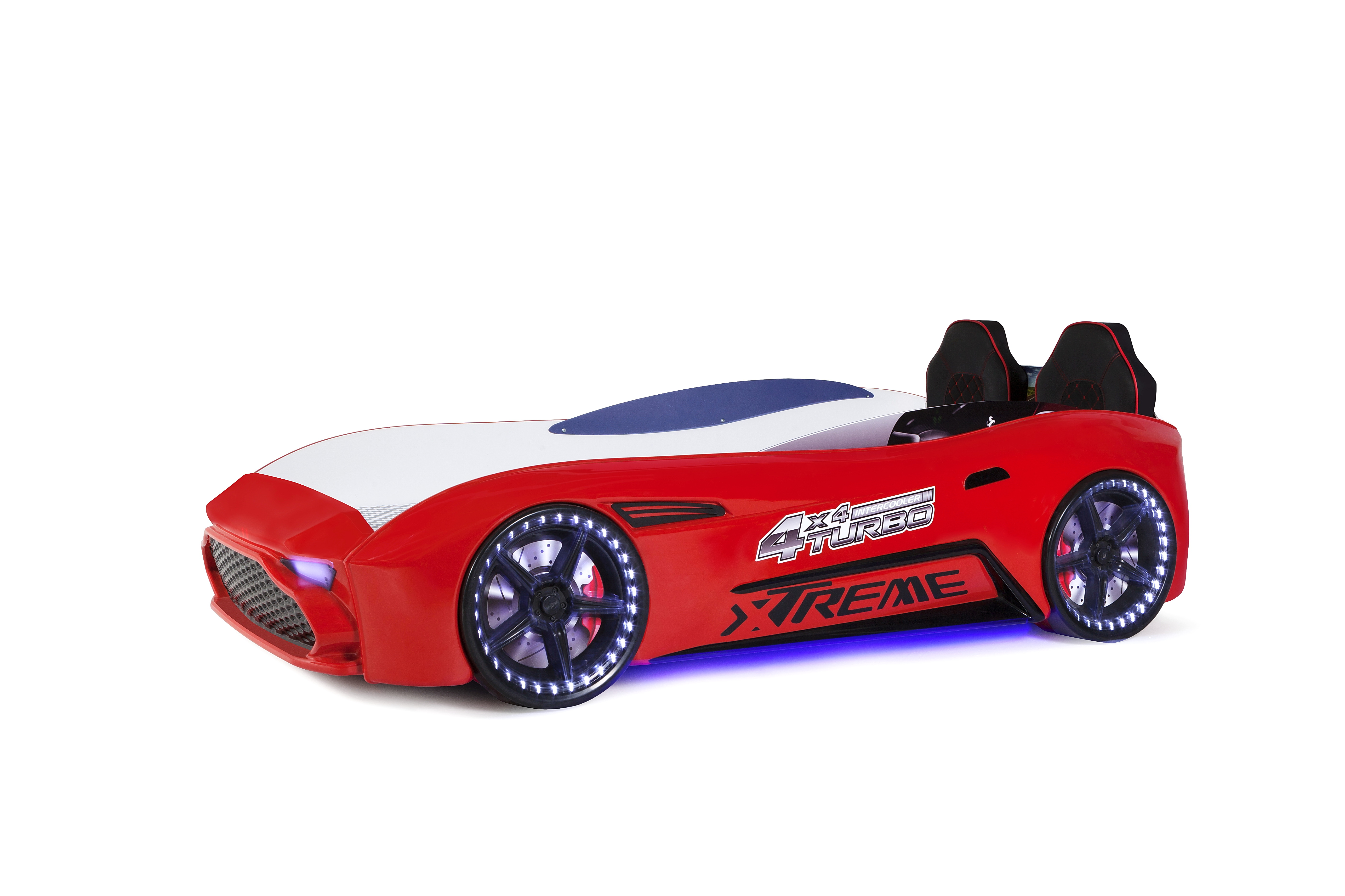 Autobettzimmer GT18 Extreme Turbo 4-teilig in Rot