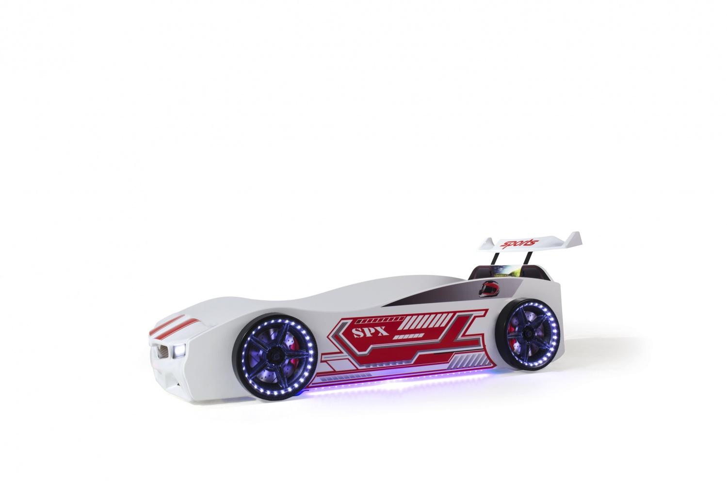 Autobett Jugendzimmer SPX FULL Turbo 4-teilig Weiß