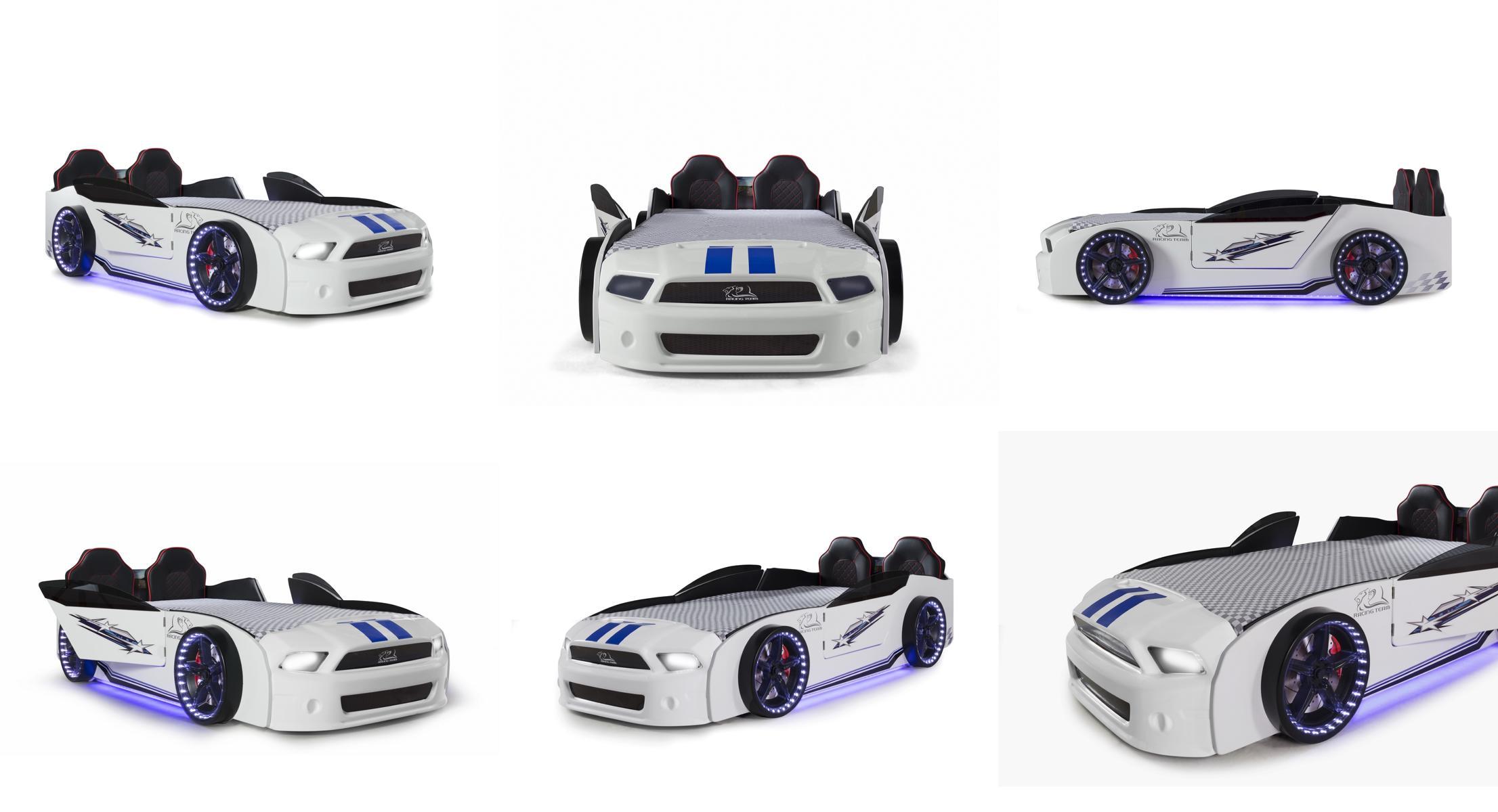 Autobett Kinderzimmer Must Rider Turbo 4-teilig in Weiß