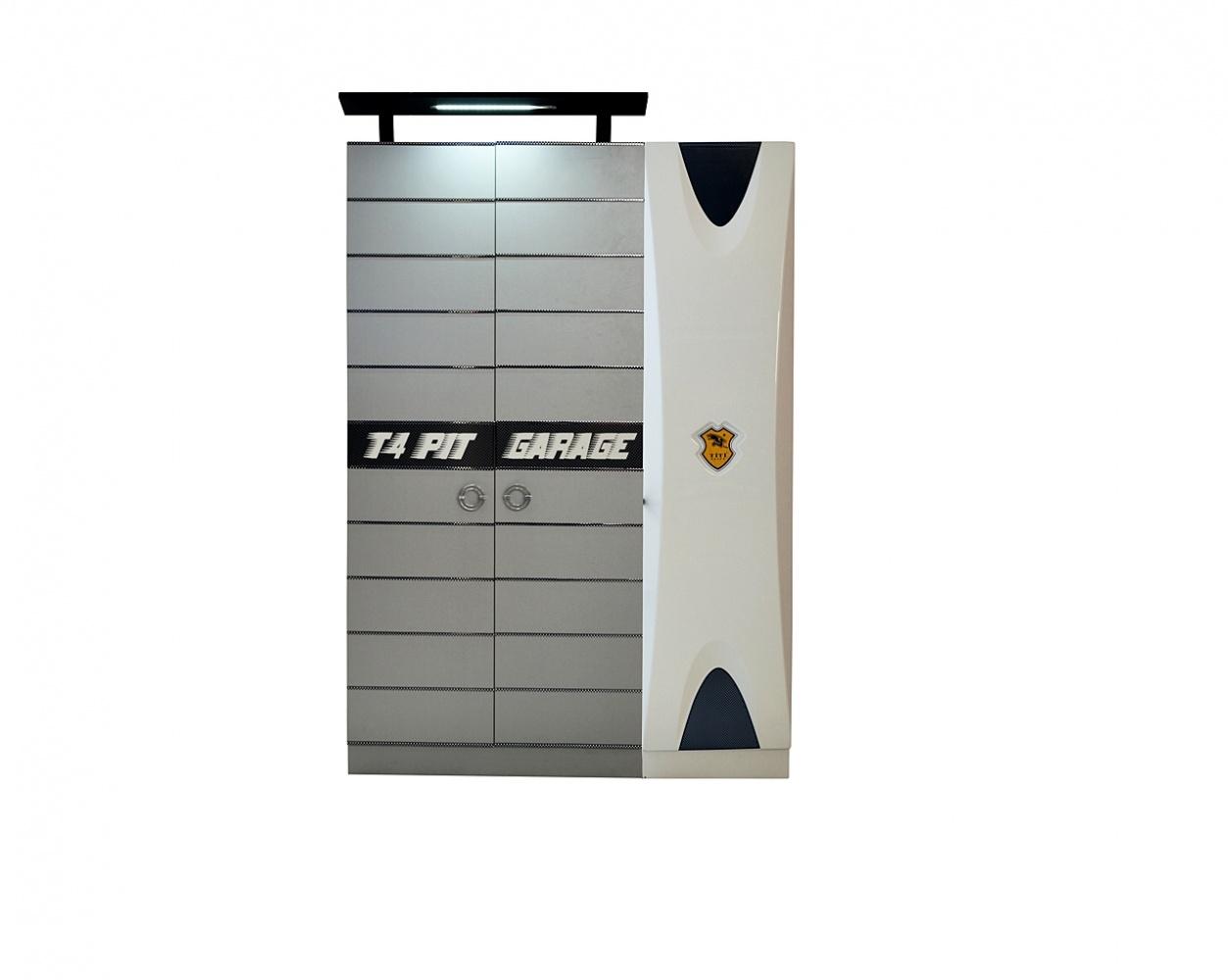 Autobett Kinderzimmer Cat Garage Car weiß-schwarz