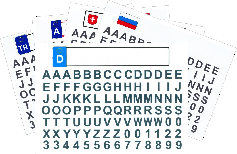 Kfz Kennzeichen mit Buchstaben Österreich