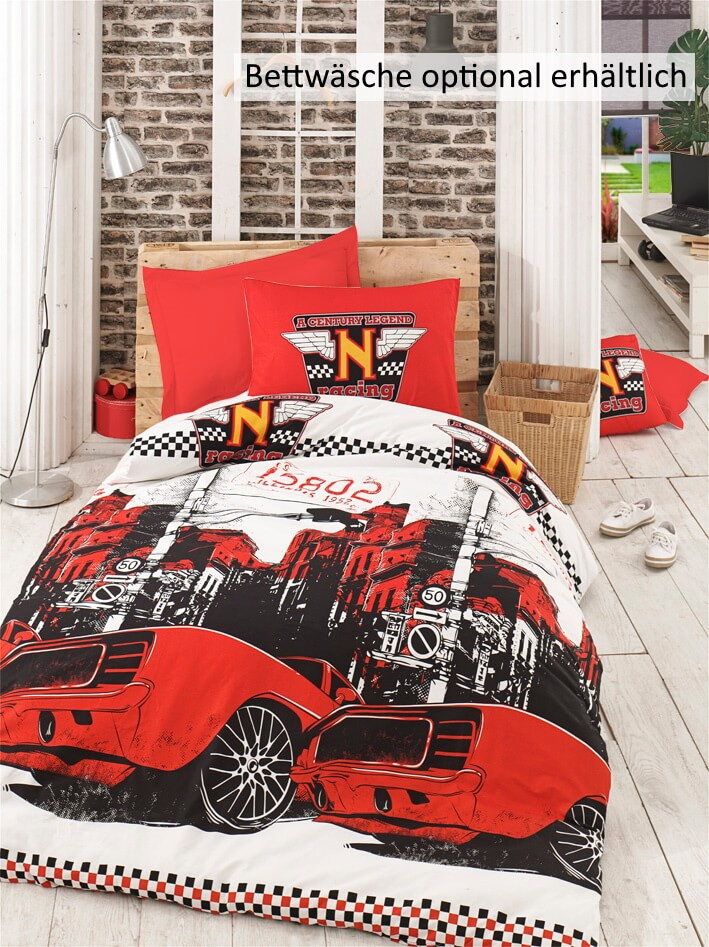 Kinderbett Jeepi Safari mit Lattenrost & Matratze 90x190