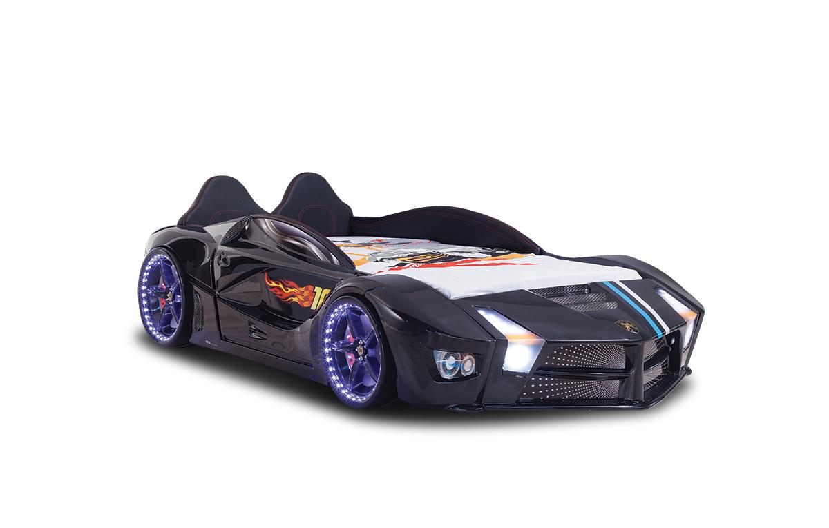 Autobett in Schwarz Luxury mit LED Beleuchtung