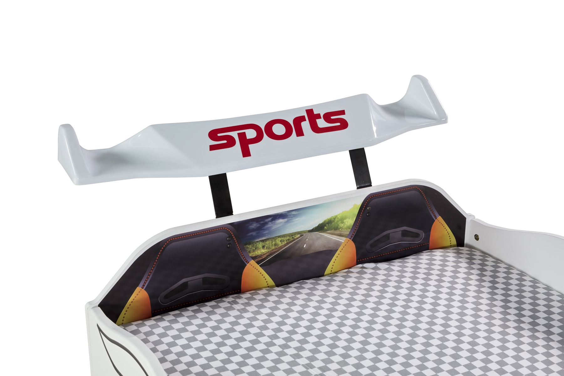 Autobett Kinderzimmer Forza 2 Turbo 4-teilig in Weiß