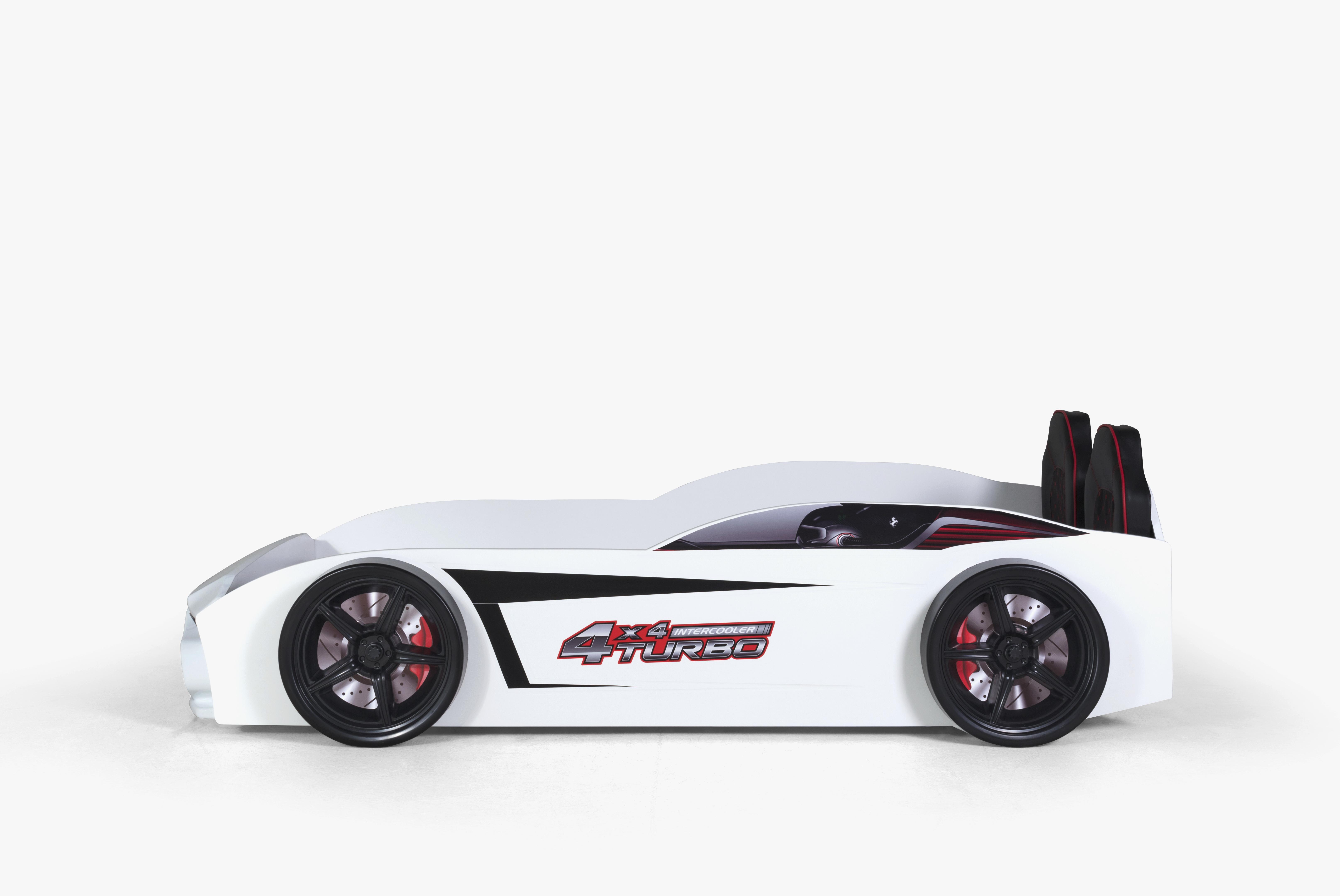 Kinder Autobett GT18 Turbo 4x4 in Weiß