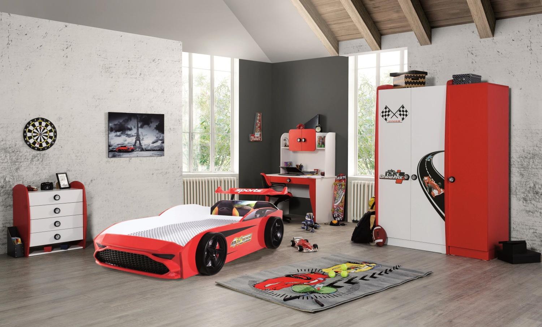 Autobettzimmer komplett GT18 Grand Prix 5-Teilig Rot