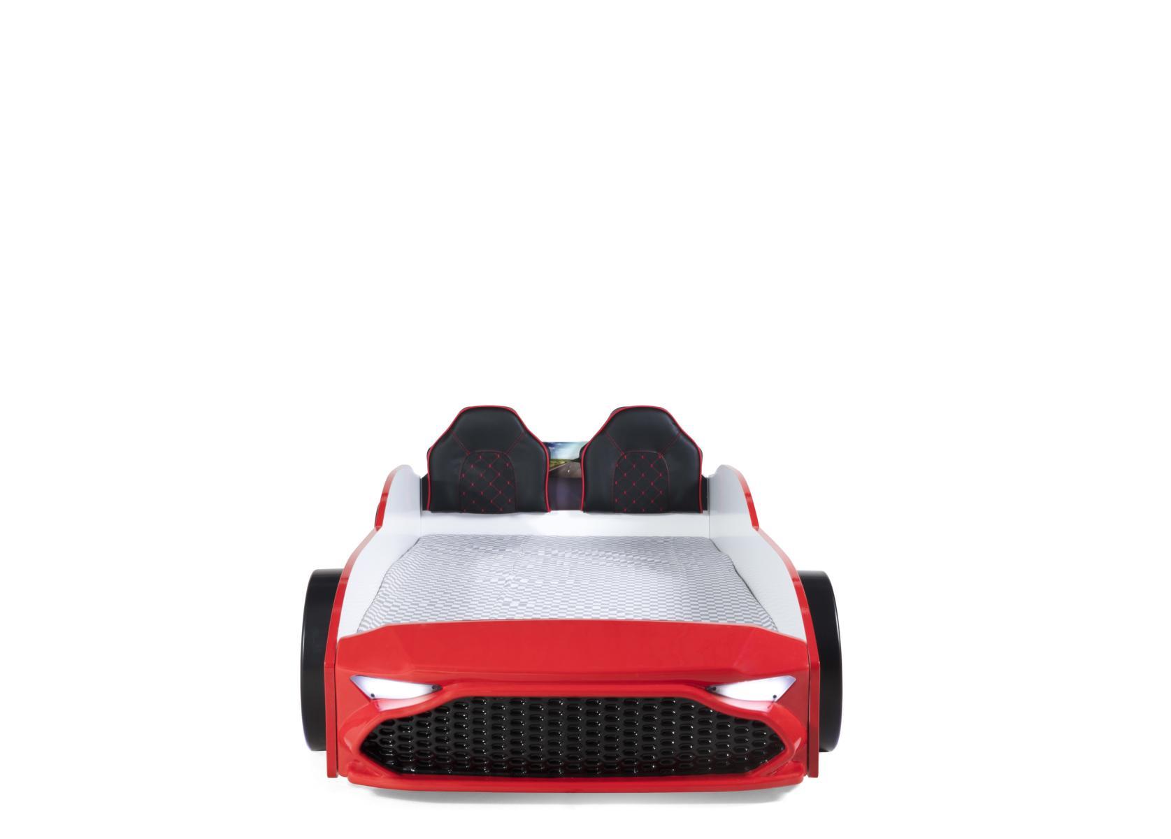 Autobett Kinderzimmer GT18 4x4 Turbo 4-teilig in Rot