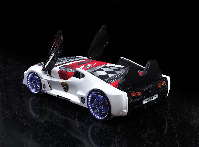 Autobett GT 999 AERO Police mit Türen und Sportsitzen