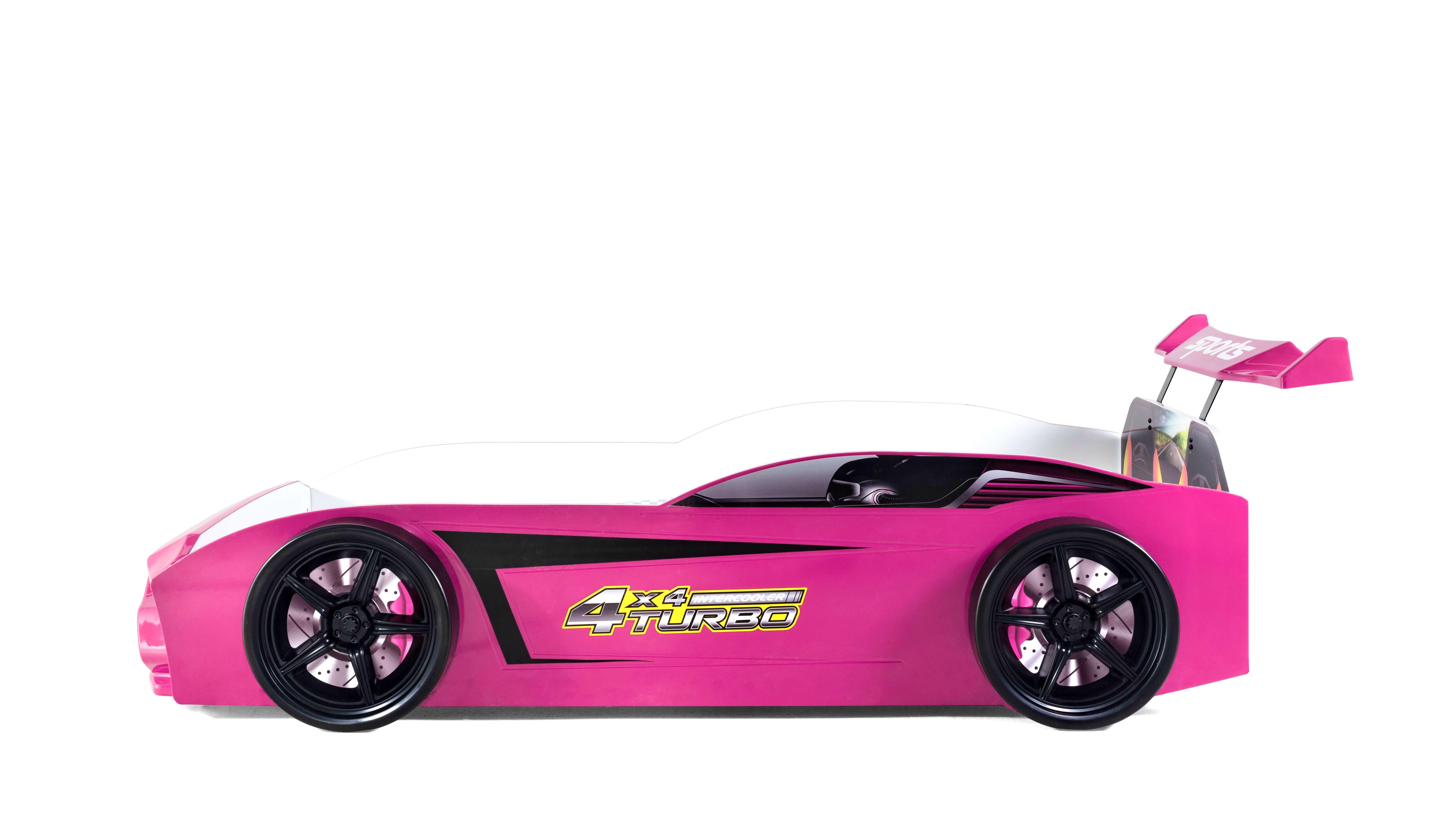Kinder Autobett GT18 Turbo 4x4 in Pink