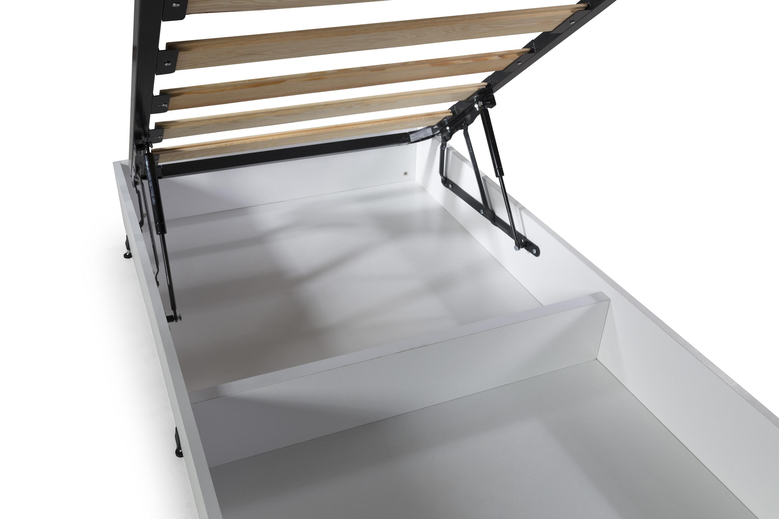 Bettkasten Anka Up mit Stauraum in Weiß 90x190 cm