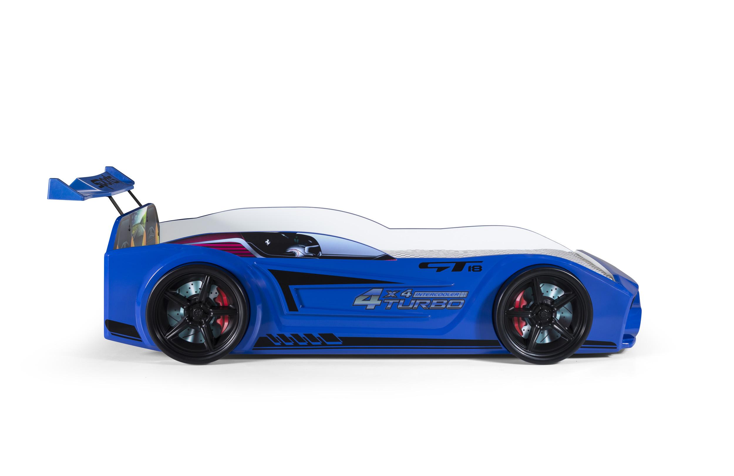 Kinder Autobett GT18 Turbo 4x4 in Blau