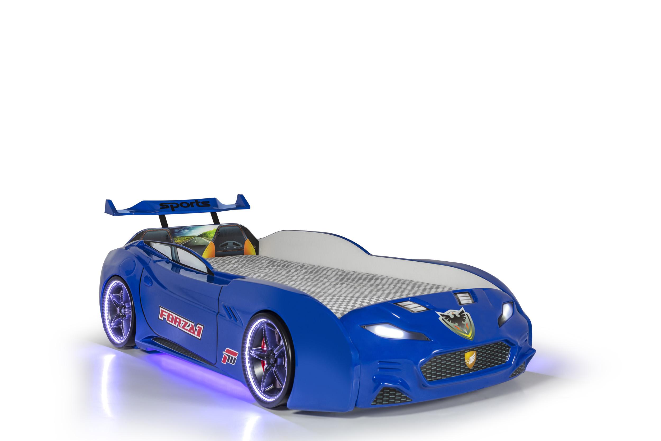 Autobett Forza 1 Coupe mit Bluethooth Blau