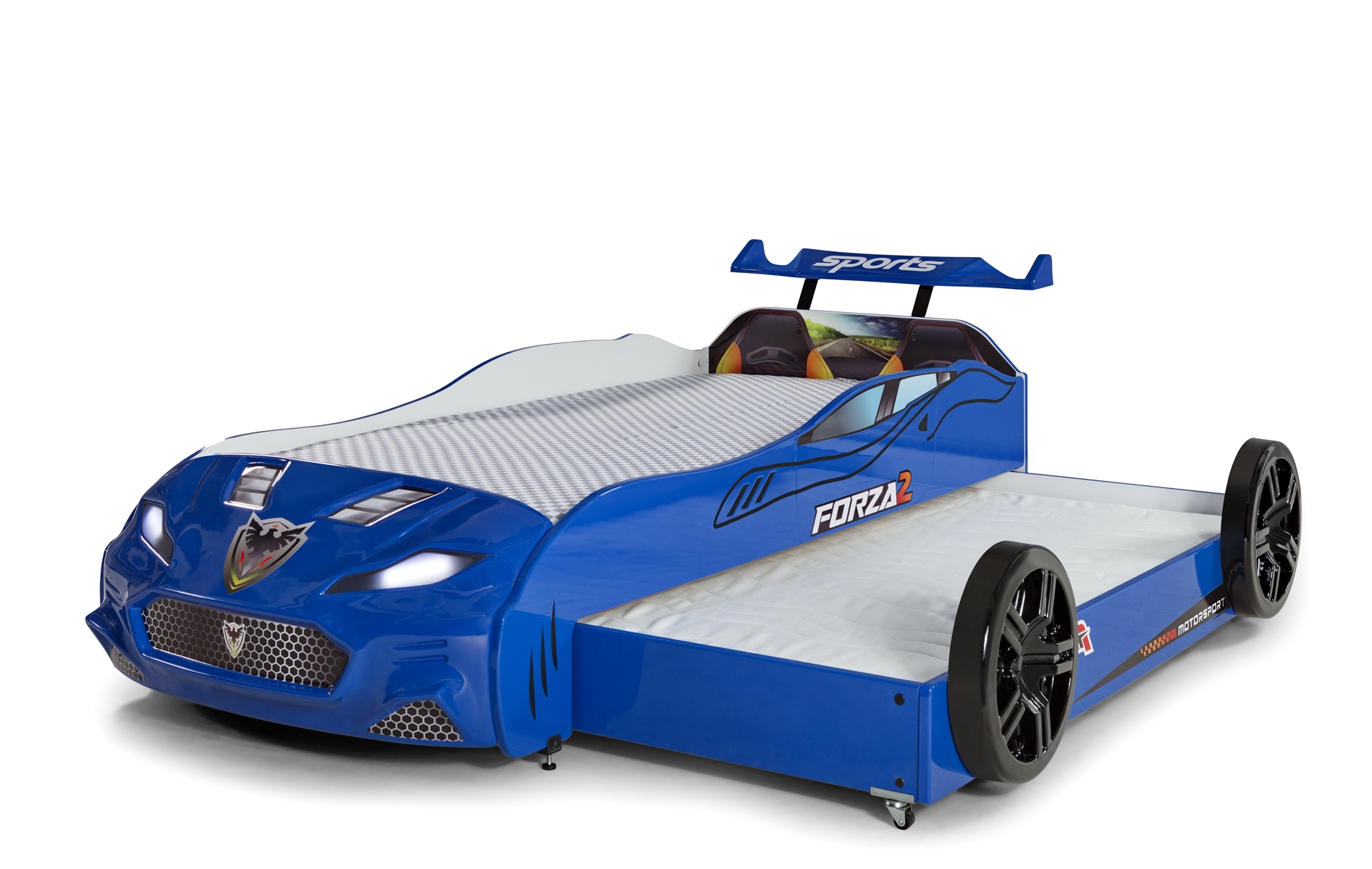 Autobett Coupe mit Gästebett Forza 2 Blau