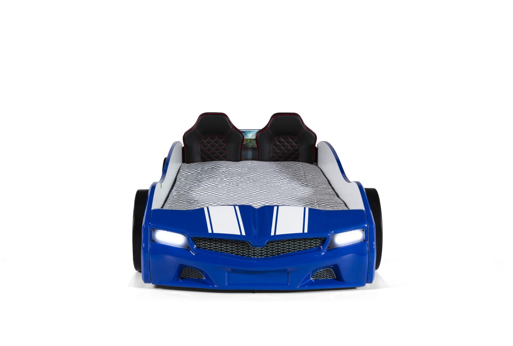 Autobett Bumer SPX Blau mit LED Scheinwerfer