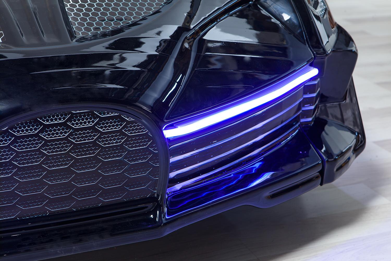 Autobett Moon Full Schwarz mit Polstersitzen LED Scheinwerfer