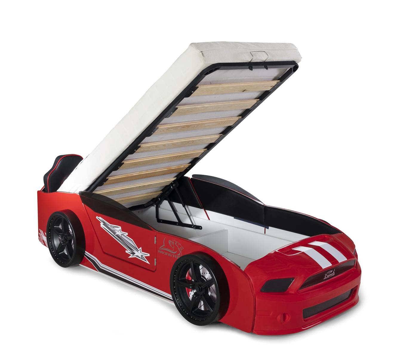 Autobett Must Rider 500 mit Türen in Rot