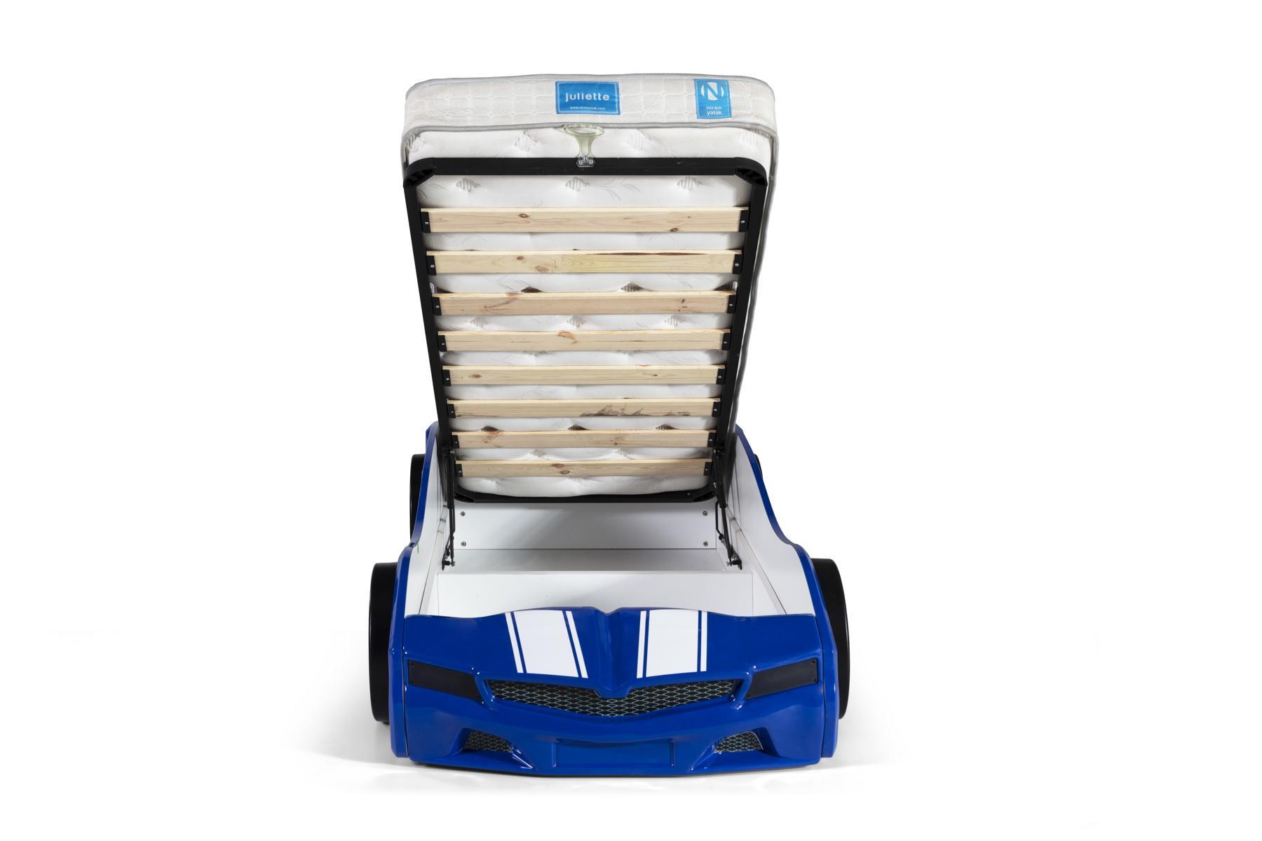 Kinder Autobett Bumer SPX Blau mit LED Scheinwerfer