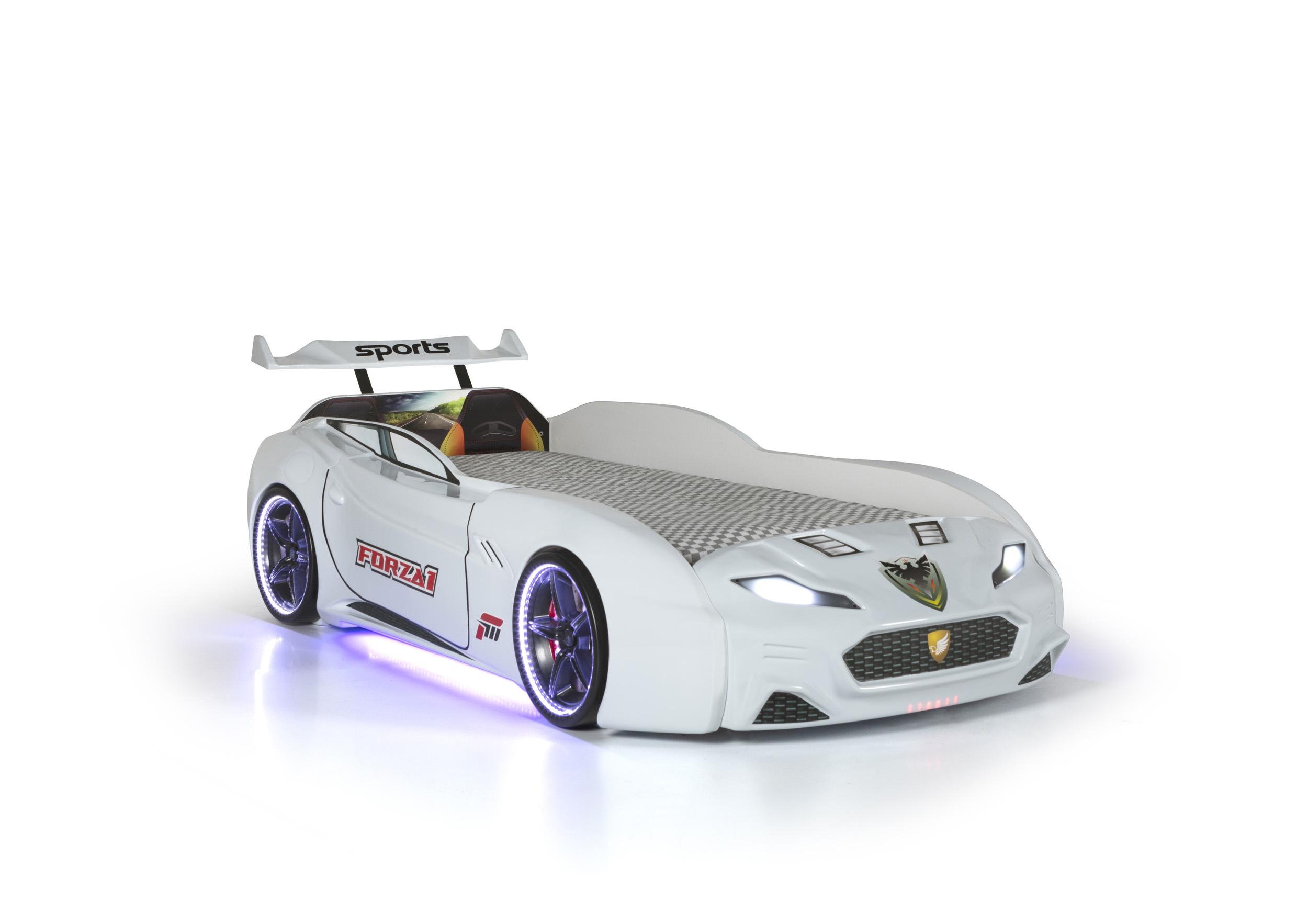 Autobett Forza 1 Coupe mit Bluethooth Weiß