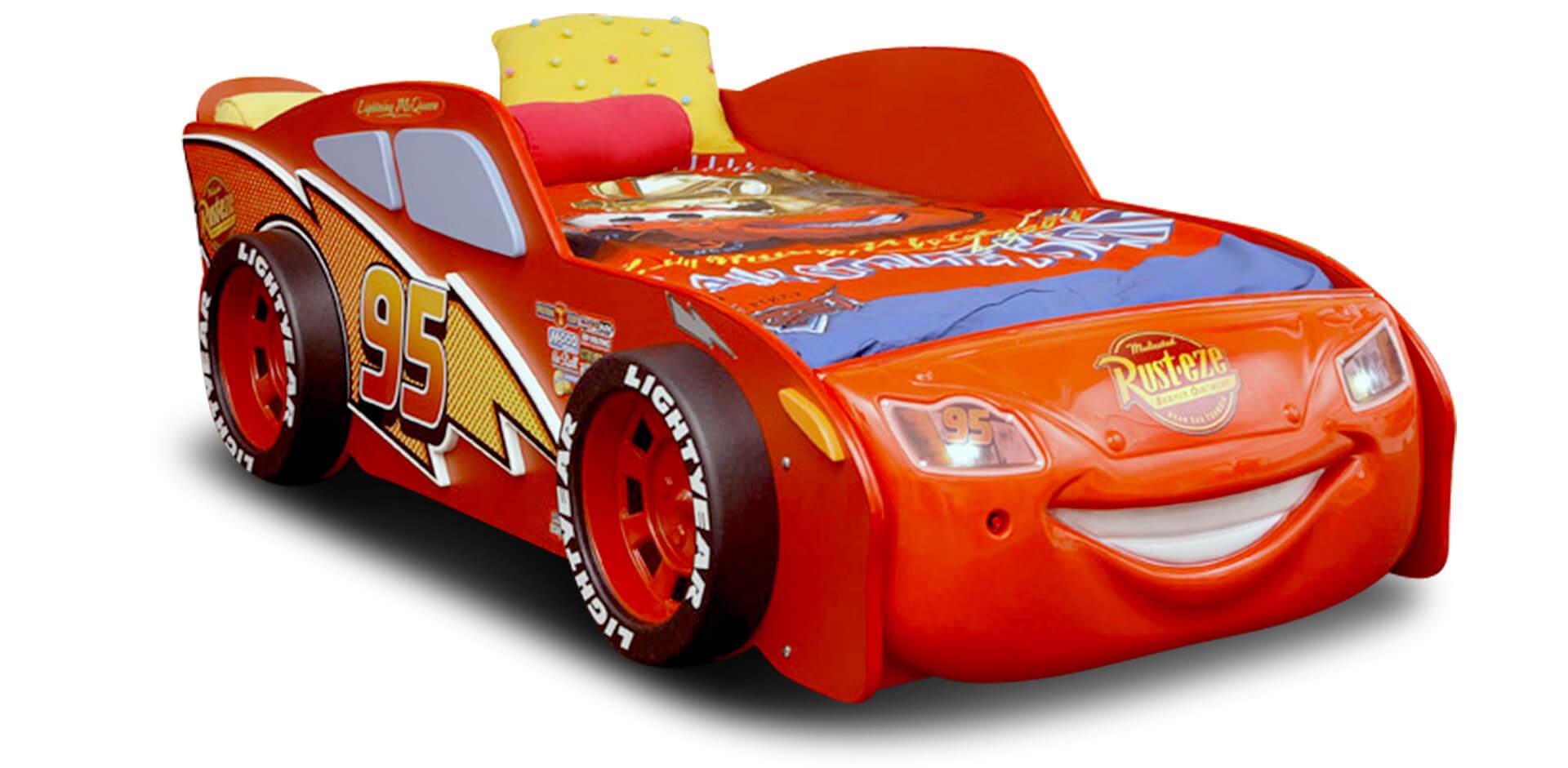 Autobett Lightning McQueen MDF inkl Matratze