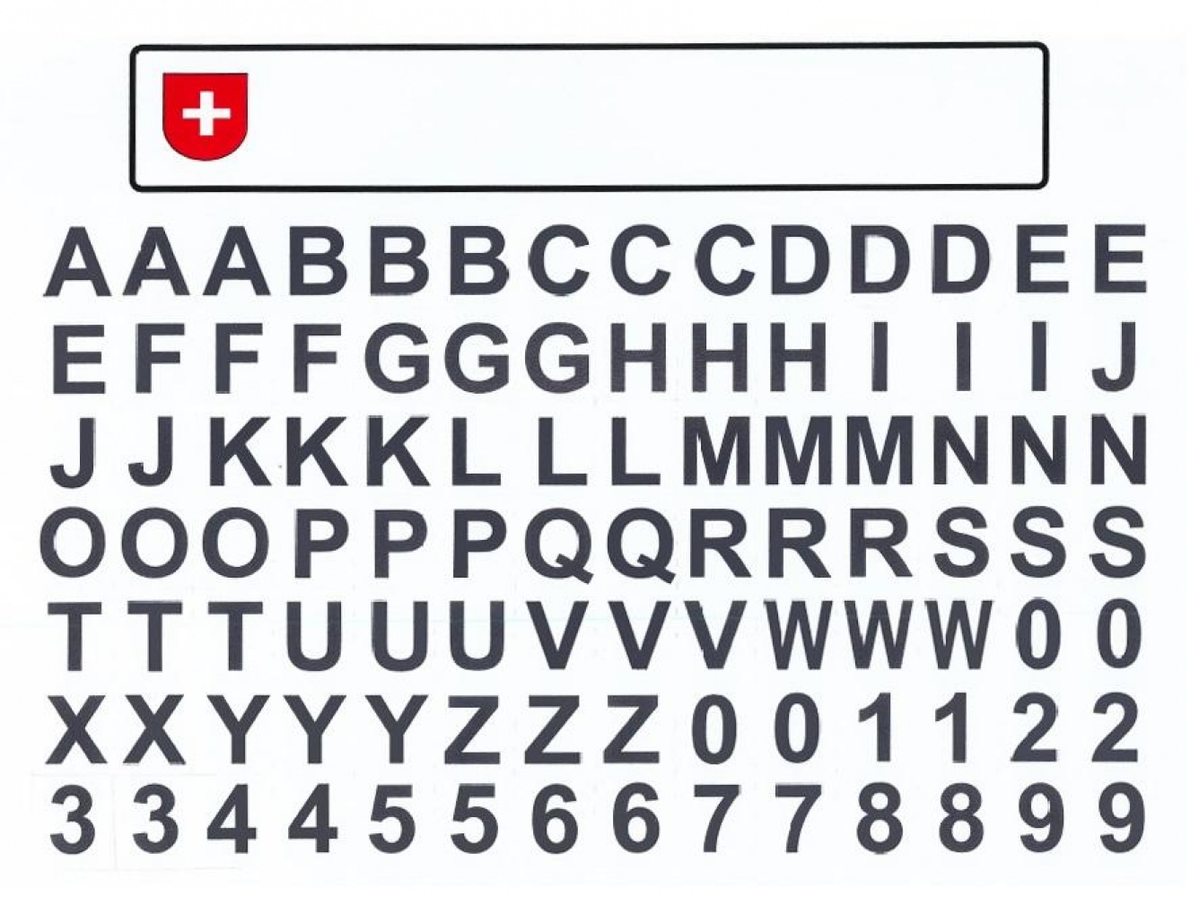 KFZ Kennzeichen mit Buchstaben