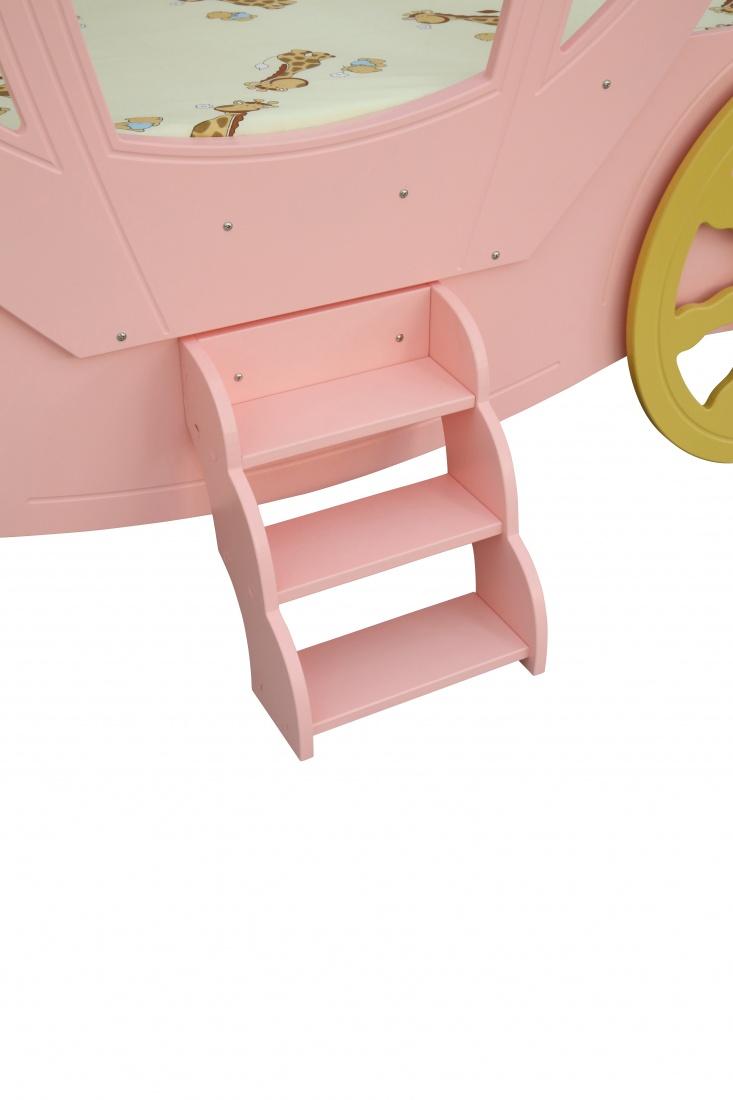 Kinderbett Prinzessin Kutsche in Rosa mit Matratze