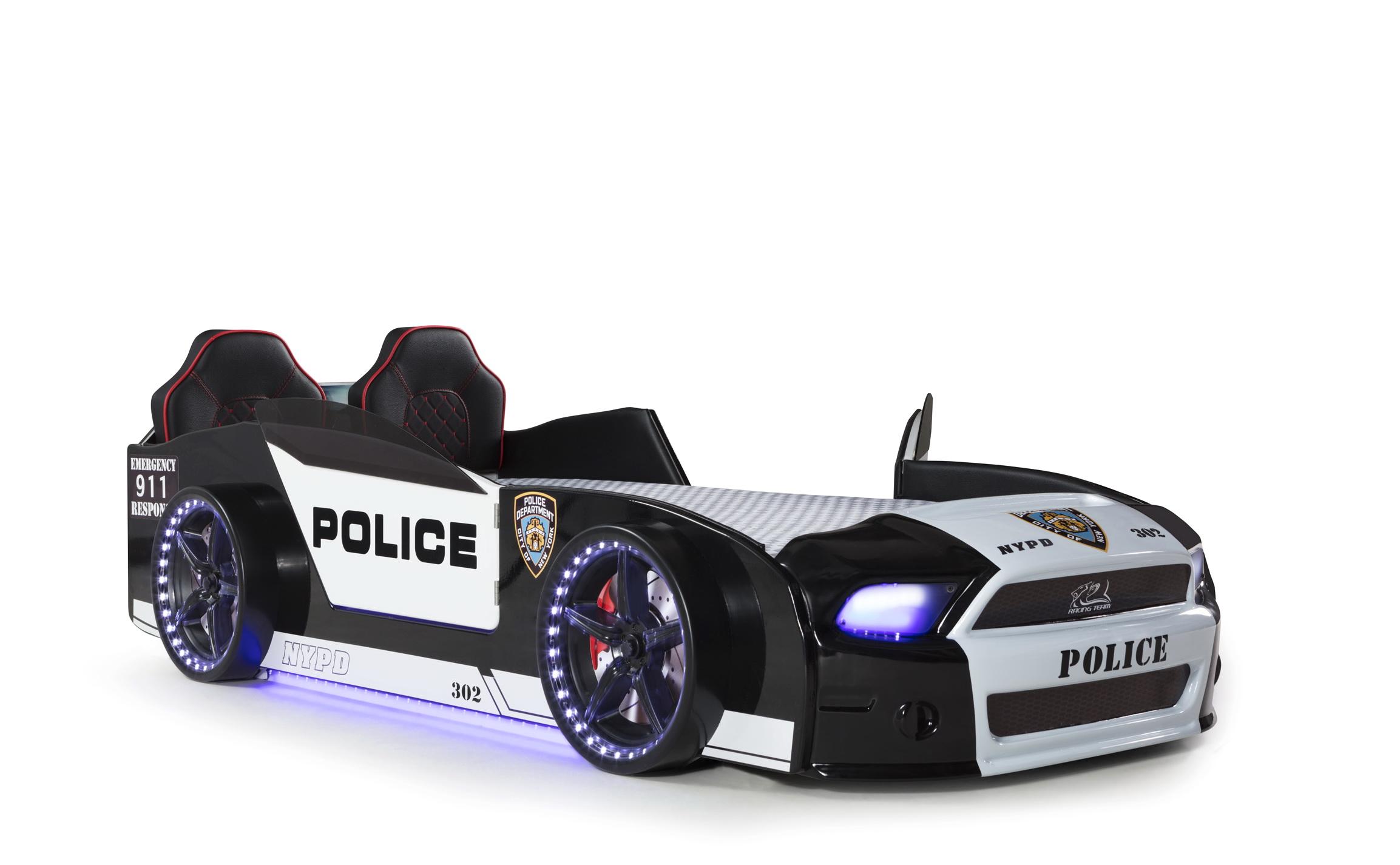 Autobett Must Rider Police 500 mit Sound Sirene