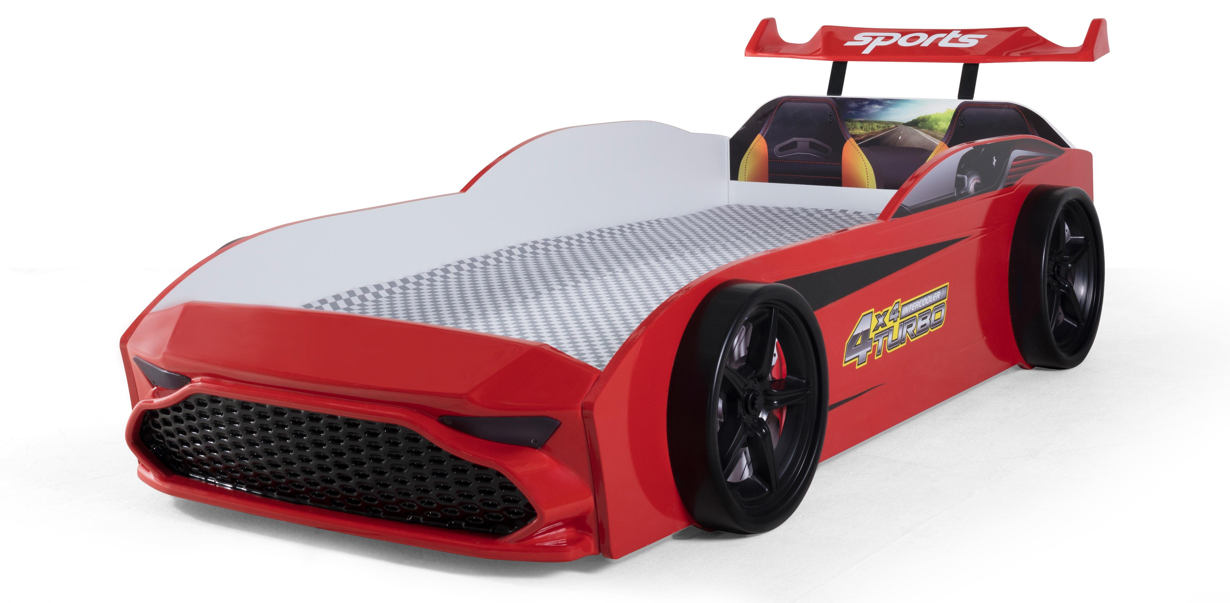 Kinder Autobett GT18 Turbo 4x4 in Rot