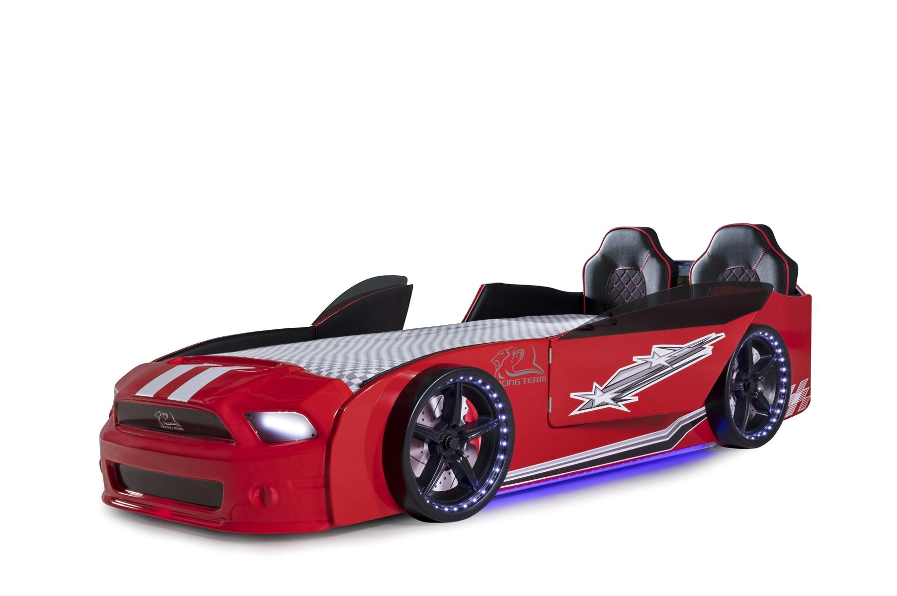 Autobettzimmer Komplett Must Rider Turbo 4-teilig Rot