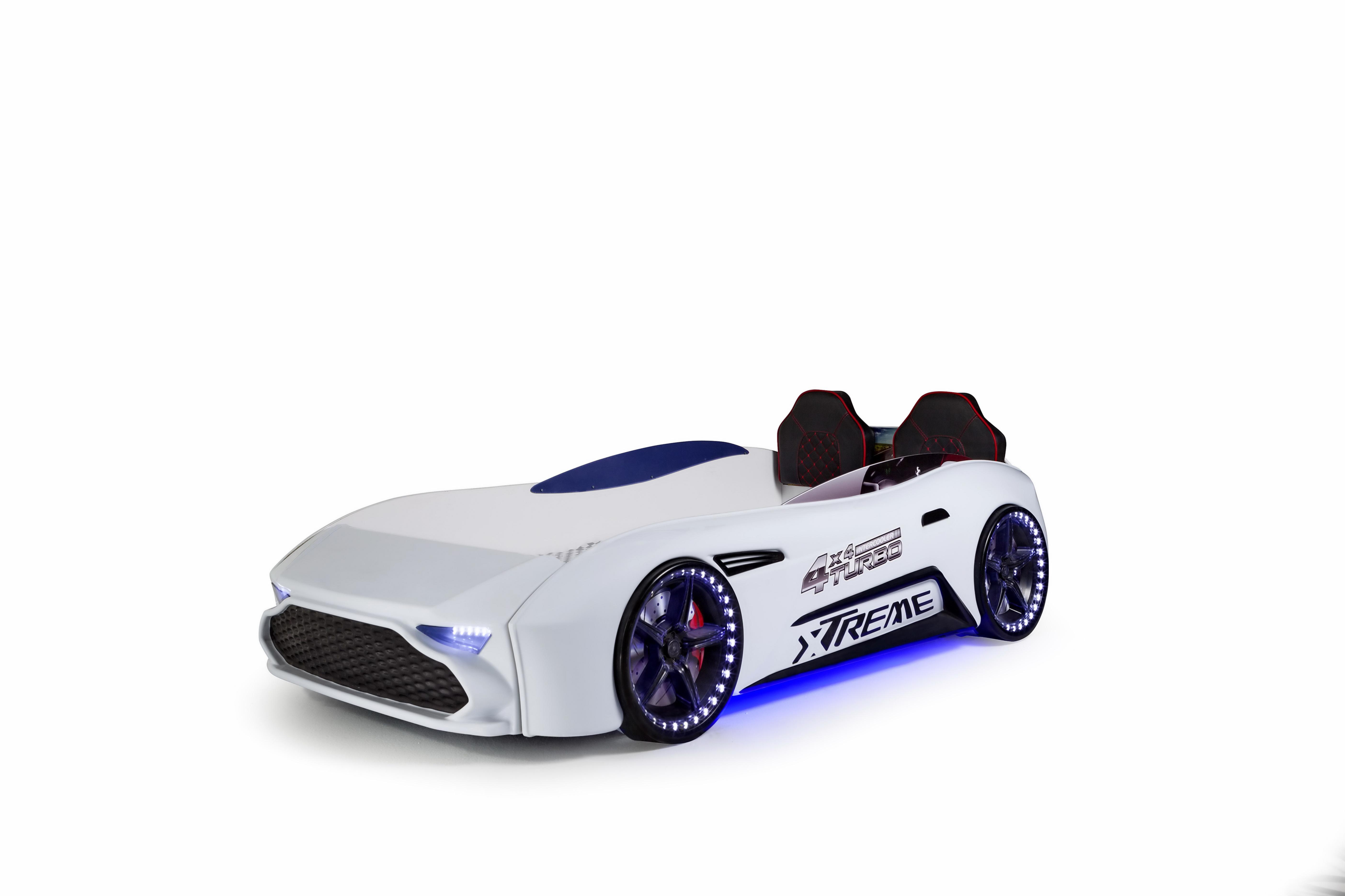 Autobettzimmer GT18 Extreme Turbo 4-teilig in Weiß