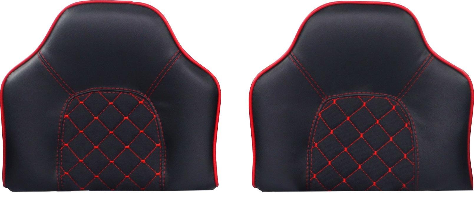 Sport Polstersitze in Schwarz mit roter Naht