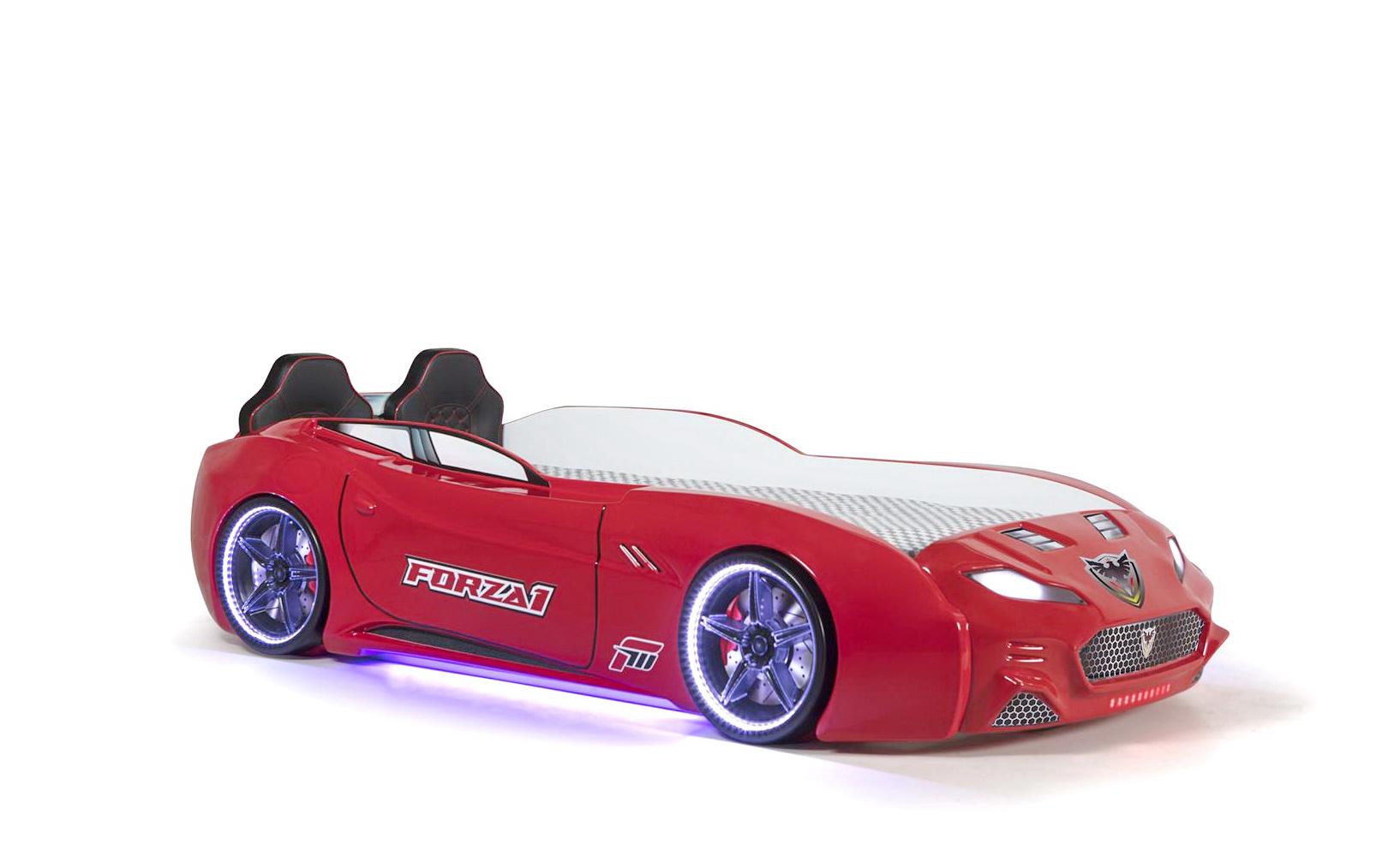 Autobett Forza 1 Coupe mit Bluethooth Rot