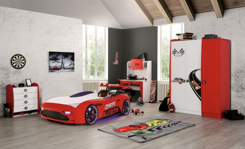 Autobettzimmer Set GT18 Extreme Grand Prix 5-Teilig Rot