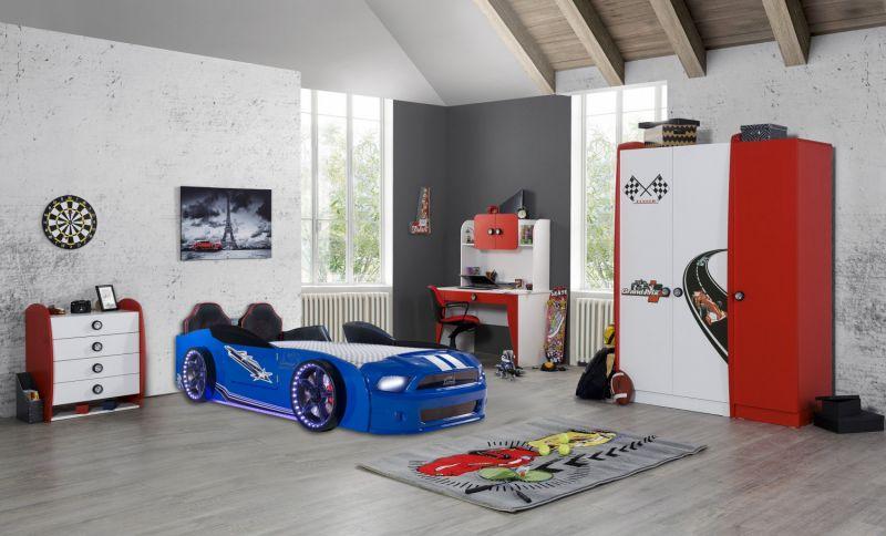 Autobettzimmer komplett Must Rider Grand Prix Blau/Rot