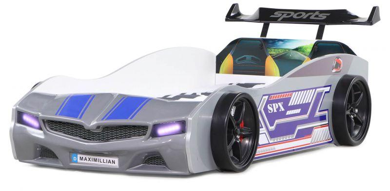 Autobett Bumer SPX grau mit LED Scheinwerfer