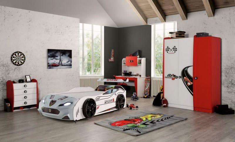Autobettzimmer komplett Forza 2 Grand Prix 5-Teilig Weiß